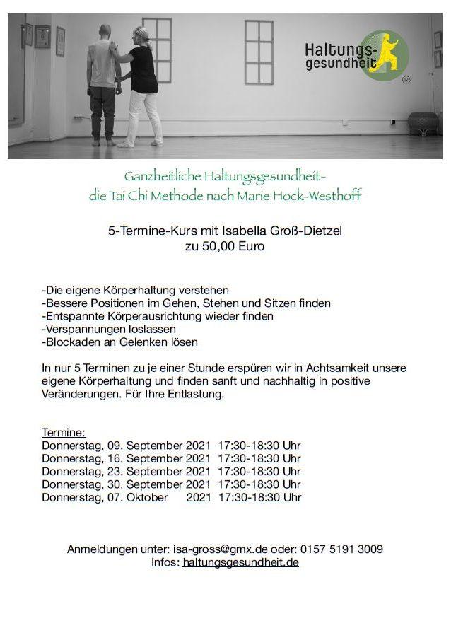 Werbung für Kurs mit Isabella Groß-Dietzel